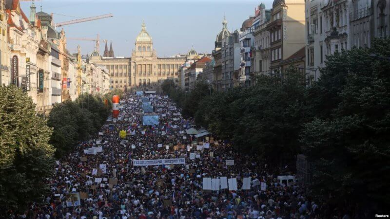Акция протеста в Чехии
