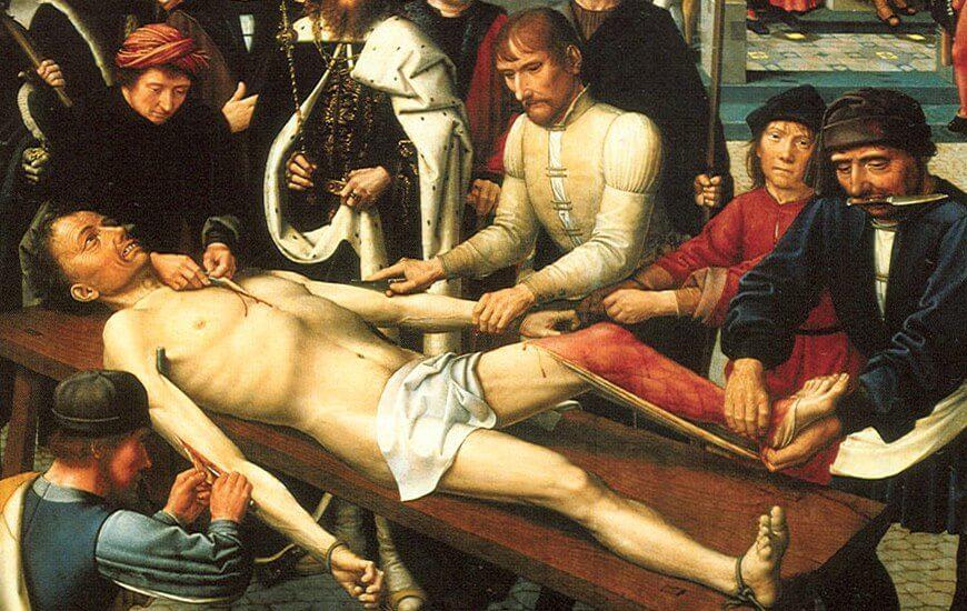 «Суд Камбиса» или «Сдирание кожи с продажного судьи» — картина-диптих нидерландского художника Герарда Давида
