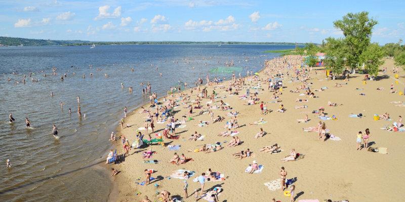 пляж, открытие