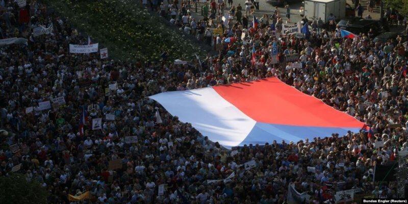 Протест в Чехии