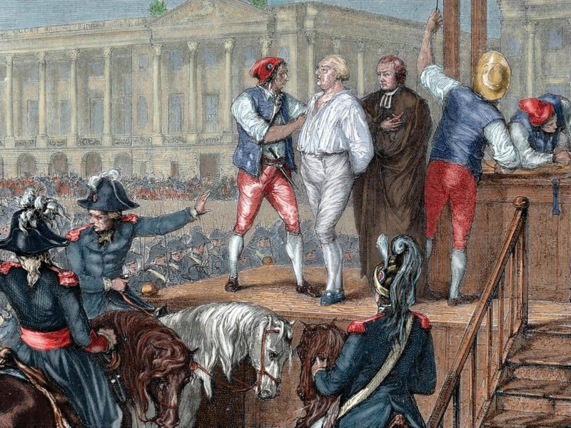 21 января 1793 года взошёл на эшафот Людовик XVI