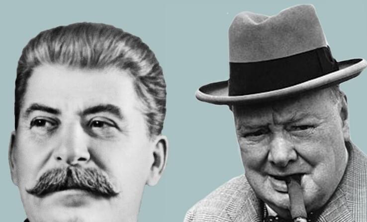 Сталин и Черчель