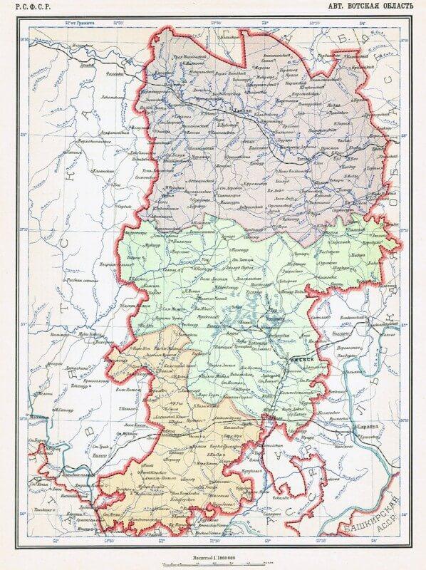 Вотская АО.Карта