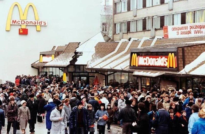 Очередь в макдональдс 1990 Москва