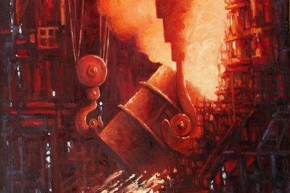 Первая доменная печь Магнитогорского металлургического комбината
