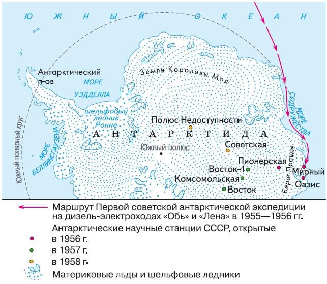 первая советская Комплексная Антарктическая экспедиция,