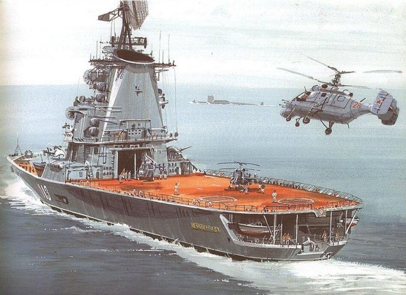 Противолодочный крейсер проекта 1123 - вертолетоносец «Ленинград»