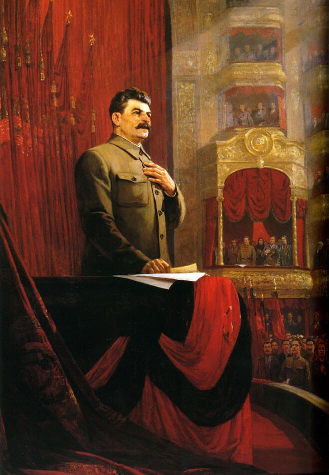 Решетников Ф.П. Великая клятва (Речь И.В.Сталина на II Всероссийском съезде Советов 26 января 1924 года). 1949