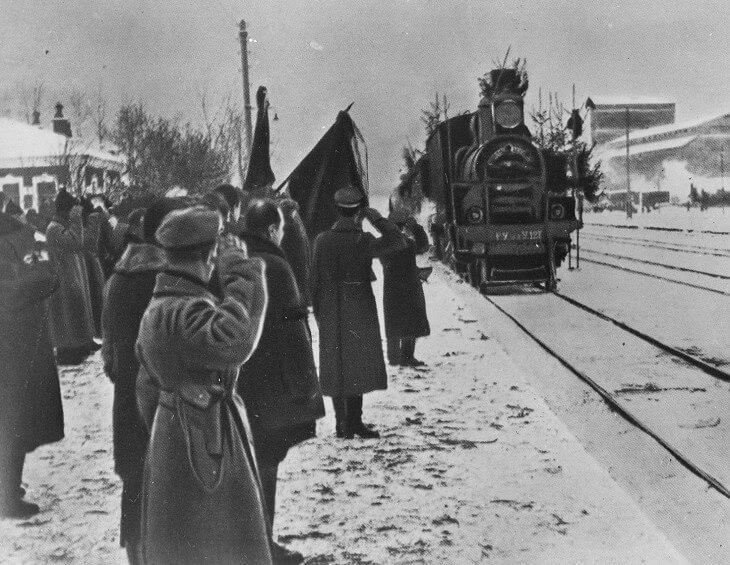Траурный поезд Ленина 1924
