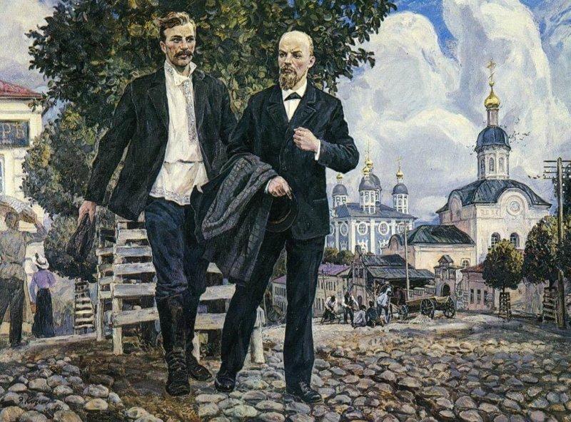 В. И. Ленин и И. В. Бабушкин в Смоленске