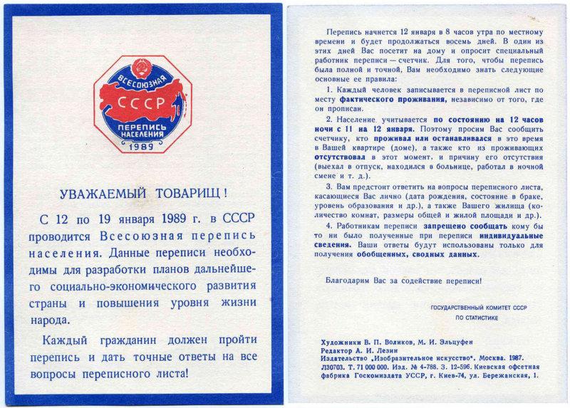 Всесоюзная перепись населения 1989