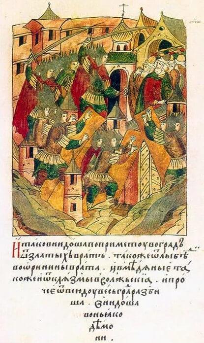 1238 - Монголы после длительной осады взяли Торжок