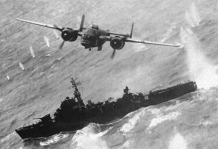 2 марта 1943 года Австралийские и американские ВВС атаковали японский флот в море Бисмарка