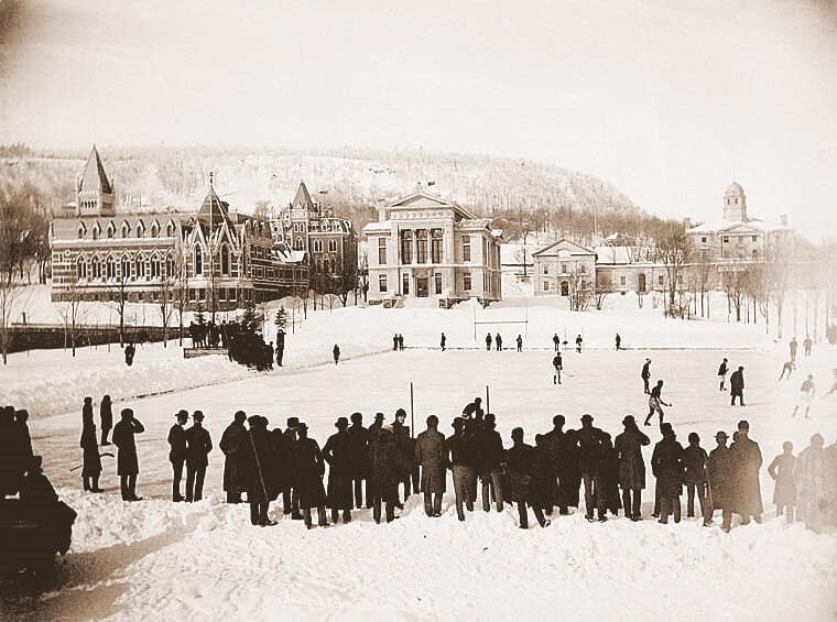 Хоккей матч в университете Макгилла, 1884 год