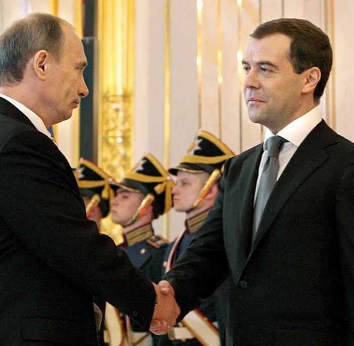 В.Путин. Д.Медведев