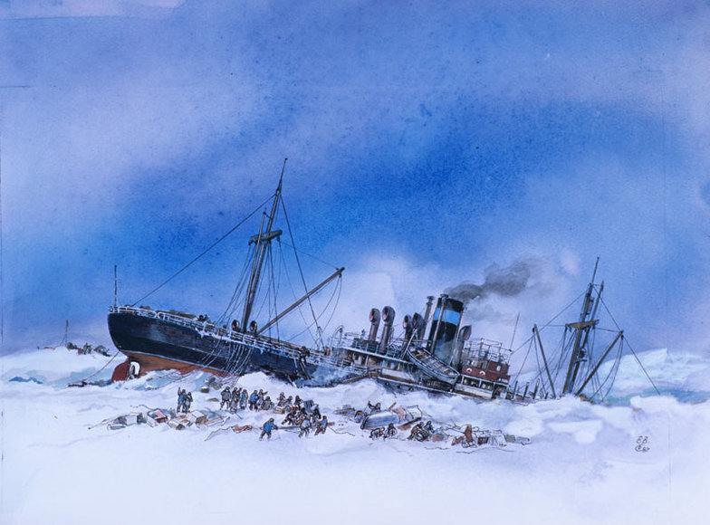 13 апреля 1934 года была завершена операция по спасению челюскинцев в Арктике