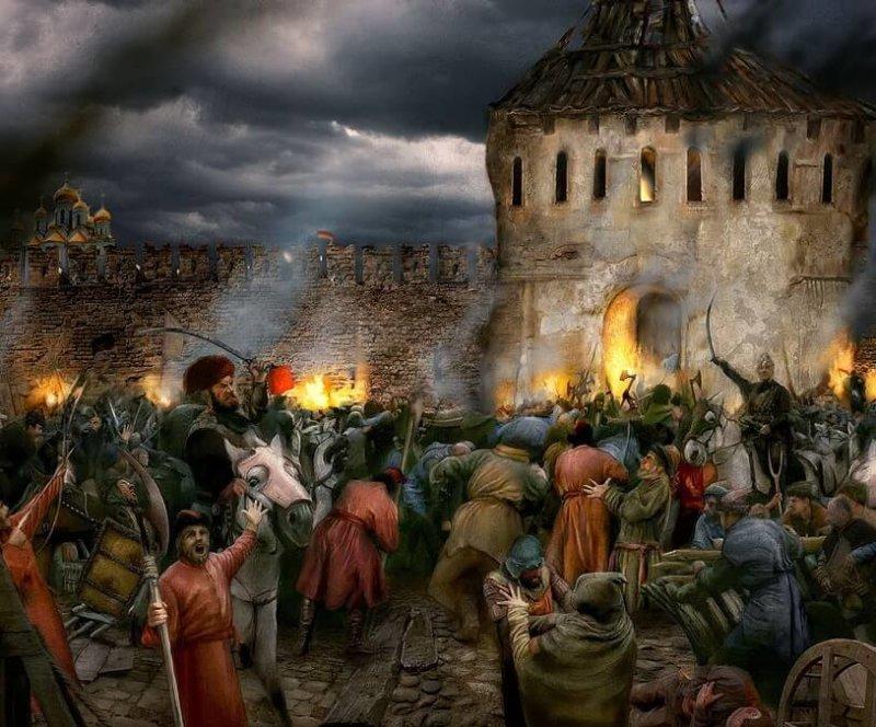 1611 - Восстание в Москве против поляков.
