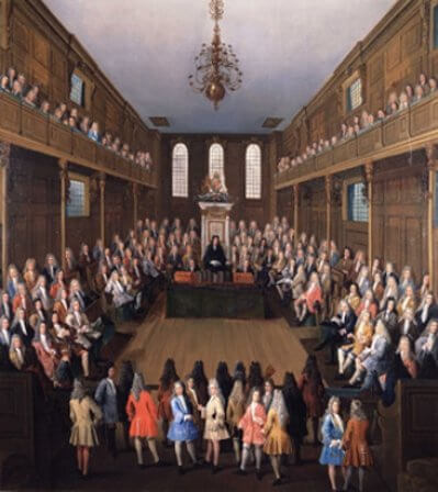 1698 - Петр I побывал на заседании обеих палат английского парламента, где в присутствии короля обсуждался вопрос о поземельном налоге