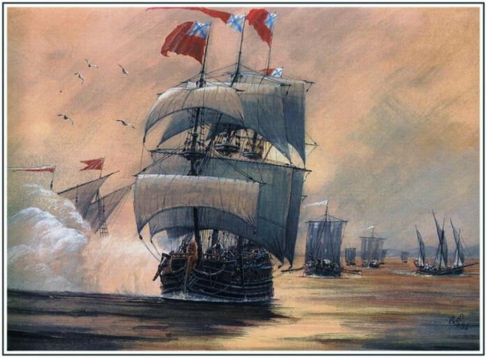 1703 - На Олонецкой верфи на реке Свирь