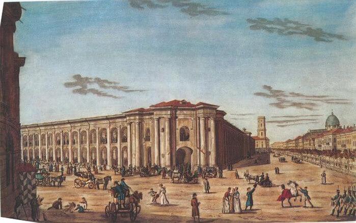 1763 - Начата постройка первых 12-ти лавок Гостиного двора