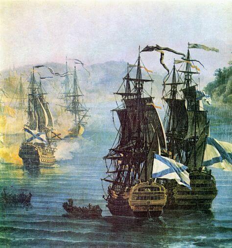 1770 - После шестидневной осады русским десантом под командованием бригадира морской артиллерии И.А. Ганнибала взята крепость Наварин