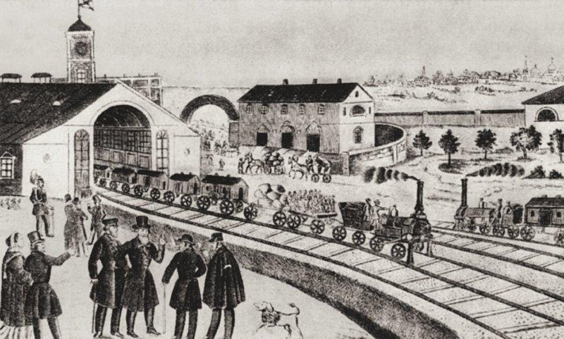 1836 - Принято решение о постройке первой в России пассажирской железной дороги - от Санкт-Петербурга до Павловска через Царское Село