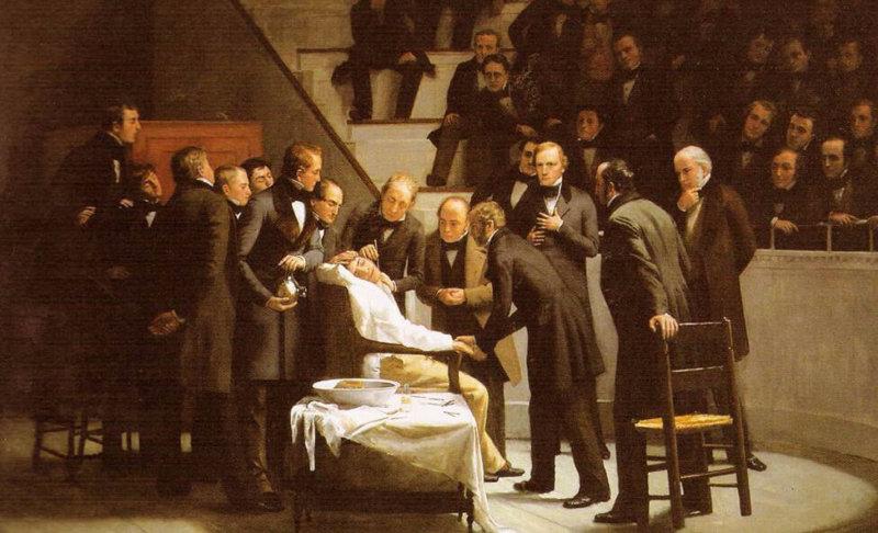1842 - Американский доктор Кроуфорд Уильямсон Лонг из городка Джефферсон (шт. Джорджия) впервые применил во врачебной практике эфир как анестезирующее средство