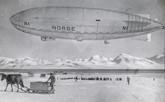 1926 - Старт дирижабля Норвегия