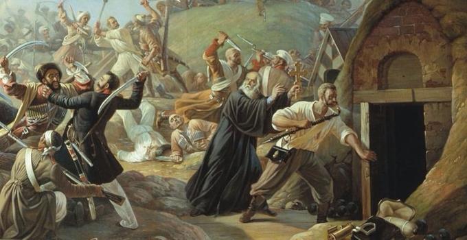 3 апреля 1840 года рядовой 77-го Тенгинского пехотного полка Архип Осипов при попытке горцев захватить Михайловское укрепление, жертвуя собой, взорвал пороховой погреб