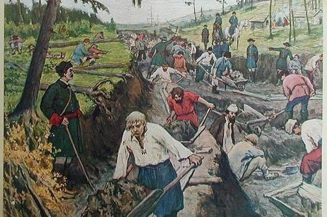 4 апреля 1718 года началось строительство Ладожского канала