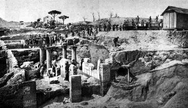 Раскопки Помпей в 1873 году