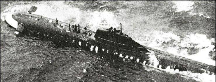 Советская атомная подводная лодка К-8 проекта 627А