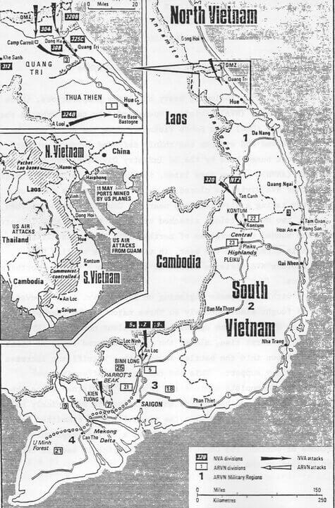 Вьетнам - Операция Нгуен Хюэ или Пасхальное наступление - 30 марта 1972 года