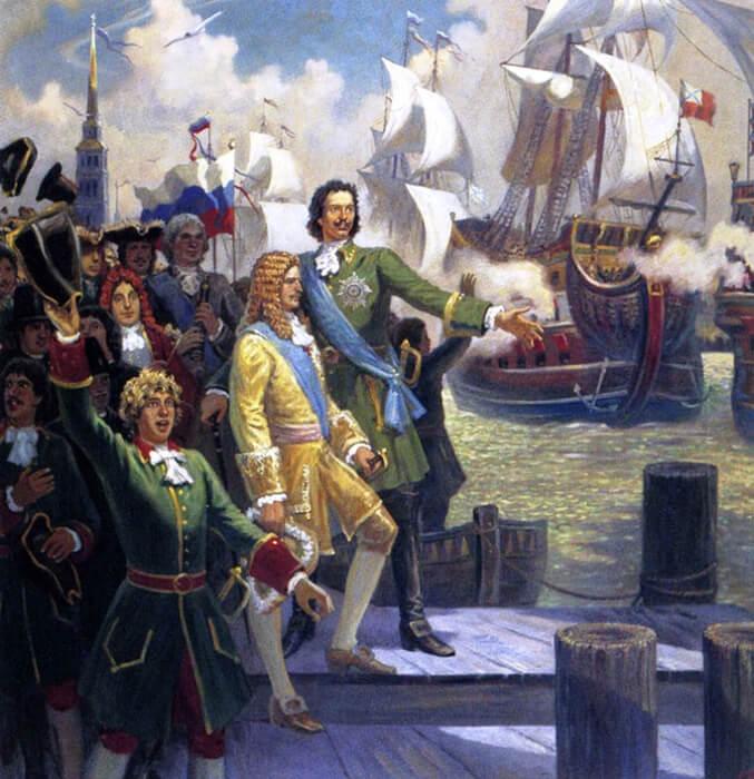 1719 - Успешное строительство царем Петром I русского флота на Балтике не могло не вызвать раздражения англичан