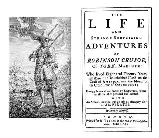 1719 - Выход в Лондоне первого издания романа Даниэля Дефо про Робинзона Крузо