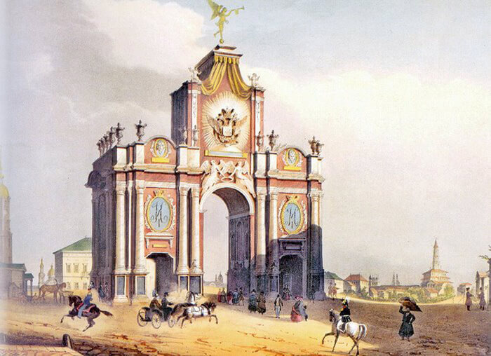 1742 - В Москве были восстановлены после пожара Красные ворота