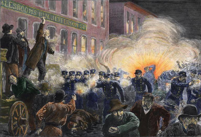 1886 - В Чикаго на площади Хеймаркет