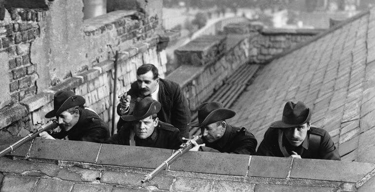 1916 - Начало ирландского восстания против английского колониального господства