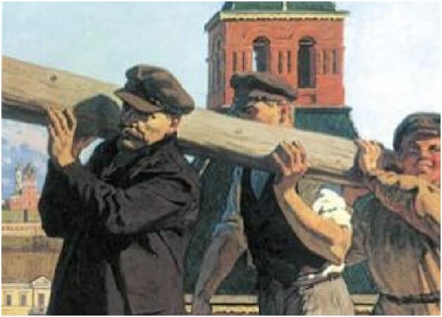 1 мая 1920 г. состоялся Всероссийский первомайский субботник. В Кремле в работе на этом субботнике принимал участие руководитель Советского государства В.И. Ленин.