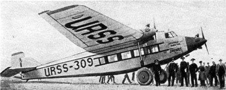 5 мая 1929 года состоялся первый полёт пассажирского самолёта АНТ-9