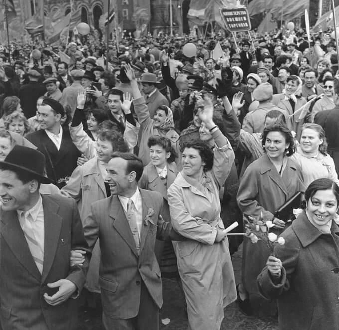 Первомайская демонстрация. СССР. 60-е