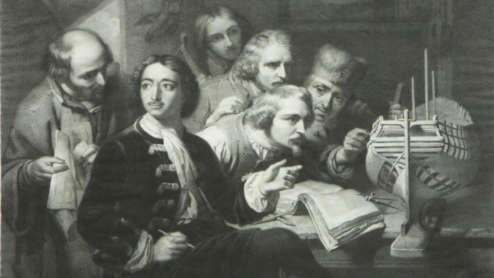 Петр I повелел Адмиралтейству открыть школы