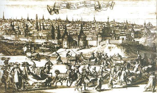 Вологодский кремль на голландской гравюре. 1675 год