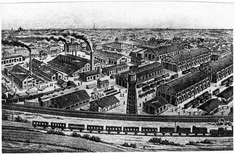 12 мая 1916 года под Москвой в Филях основан завод акционерного общества Русско-Балтийского вагонного завода.