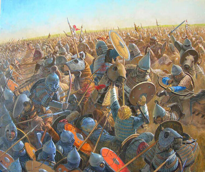 1223 - На реке Калке произошла битва между основными силами татаро-монголов