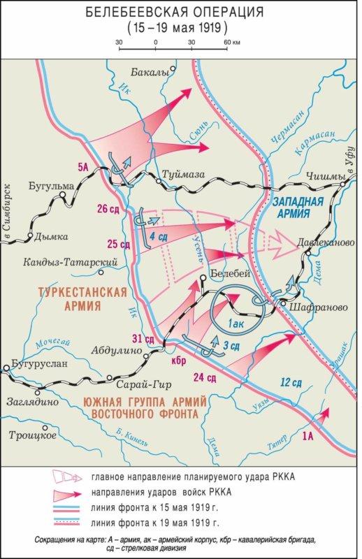 15-19 мая 1919 г. Белебейская операция Южной группы армий Восточного фронта