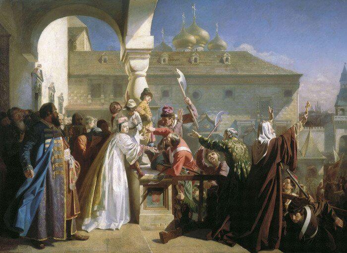 1682 - Начало Стрелецкого бунта в Москве