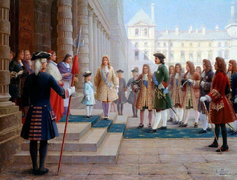 1717 - Петр I прибыл в Париж во время своего второго зарубежного путешествия
