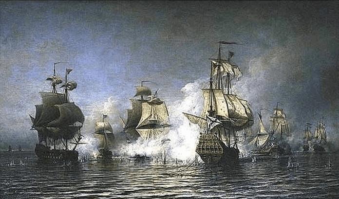 1719 - В районе острова Эзель (ныне Сааремаа) русский отряд под командованием капитана 2-го ранга Наума Акимовича Сенявина