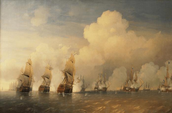 1790 - Во время русско-шведской войны 1788-1790 годов к западу от острова Котлин началось Красногорское морское сражение между русской эскадрой вице-адмирала А.И. Круза